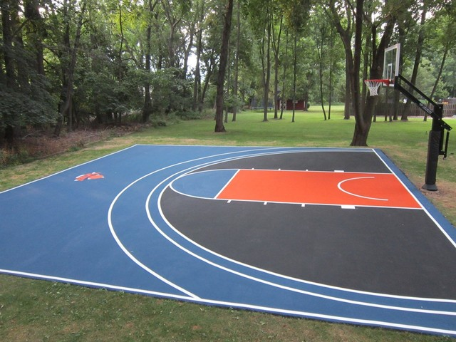 Sports Court Builders Running Track Installation Volleyball Court Construction