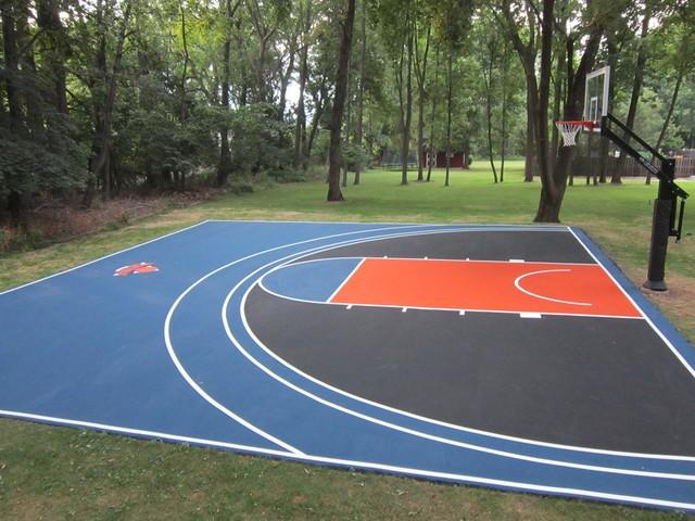 Sports Court Builders Running Track Installation Volleyball Court Construction